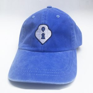 Blue and White Lox Locket Embroidered Hat